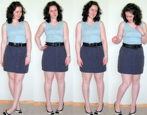 Button up pencil skirt from a men's dress shirt — megan nielsen ...