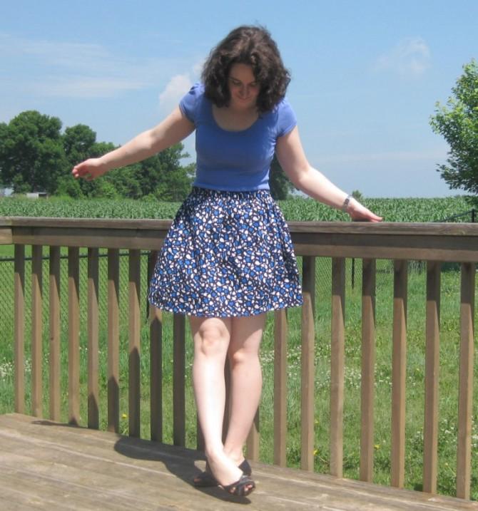 Elastic waistband skirt 1