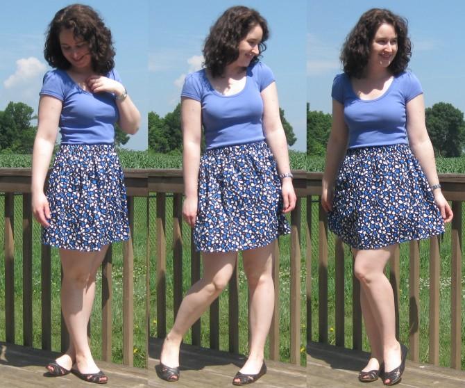 Elastic waistband skirt 3