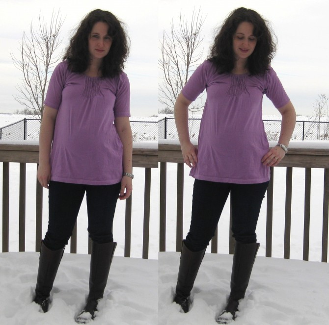 tshirt to maternity tunic after 4