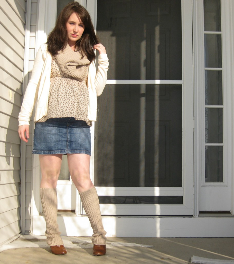 crafts for spring: make leg warmers and a cowl scarf from an old sweater