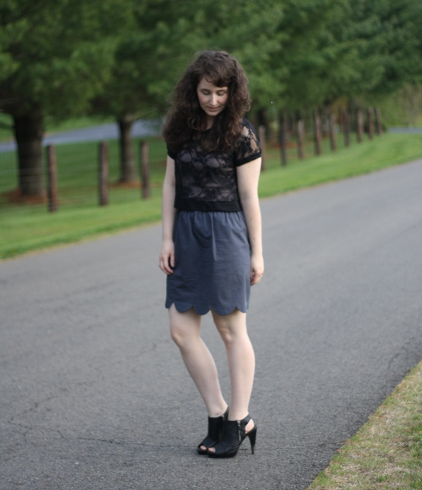 body gifts: night reversible scallop skirt tutorial