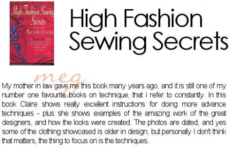 High Fashion sewing techniques 470x310 High Fashion Sewing Patterns