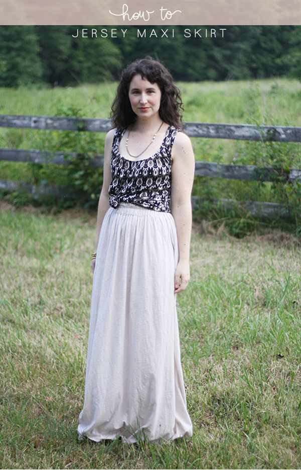 How to make a jersey maxi skirt // @megan_nielsen