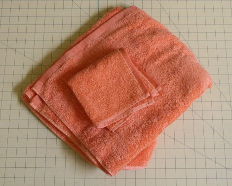 A standard size bath towel (the kind you would use for an adult ? you may ...