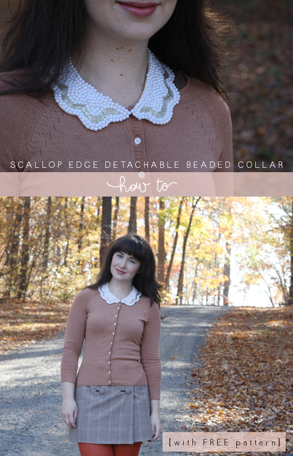 Scallop edge detachable beaded collar with FREE pattern
