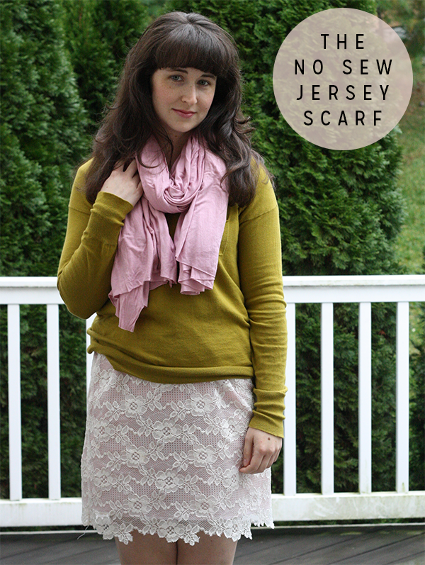 the no sew jersey scarf