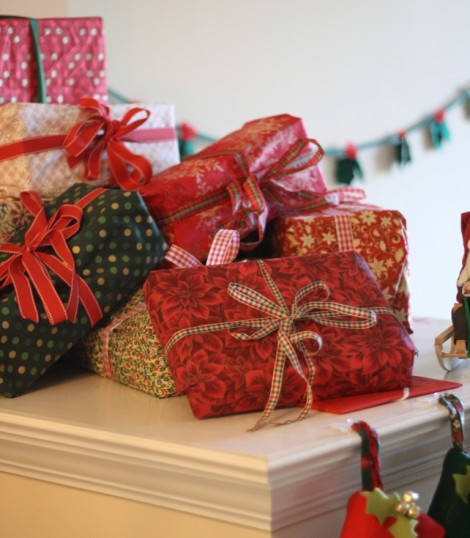 fabric wrapped christmas presents — megan nielsen design diary
