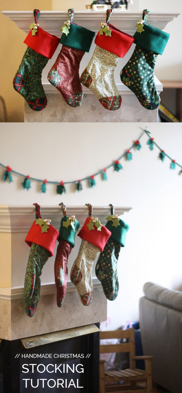 How to make beautiful Christmas stockings // FREE tutorial Megan Nielsen Design Diary