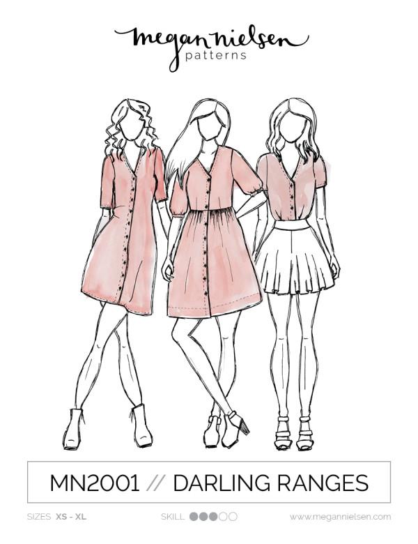 Megan Nielsen Darling Ranges dress sewing pattern