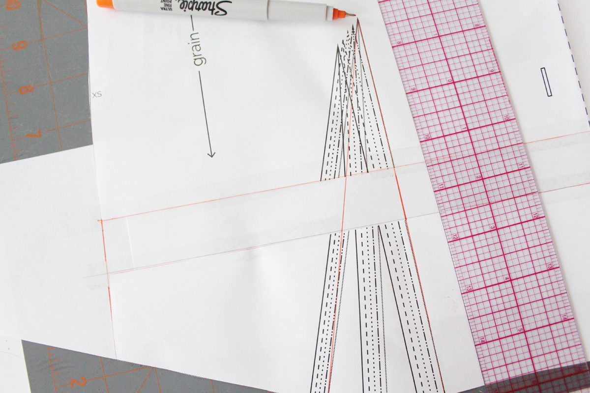 how to lengthen the bodice on the Darling Ranges pattern // tutorial on Megan Nielsen Design Diary