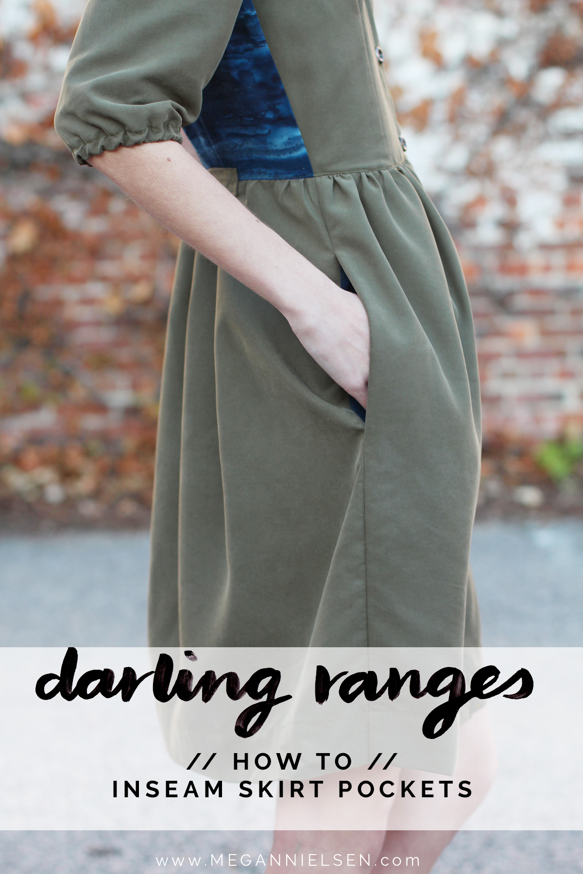 how to do inseam pockets on the Darling Ranges pattern // tutorial on Megan Nielsen Design Diary