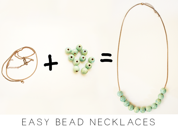 Easy bead necklaces