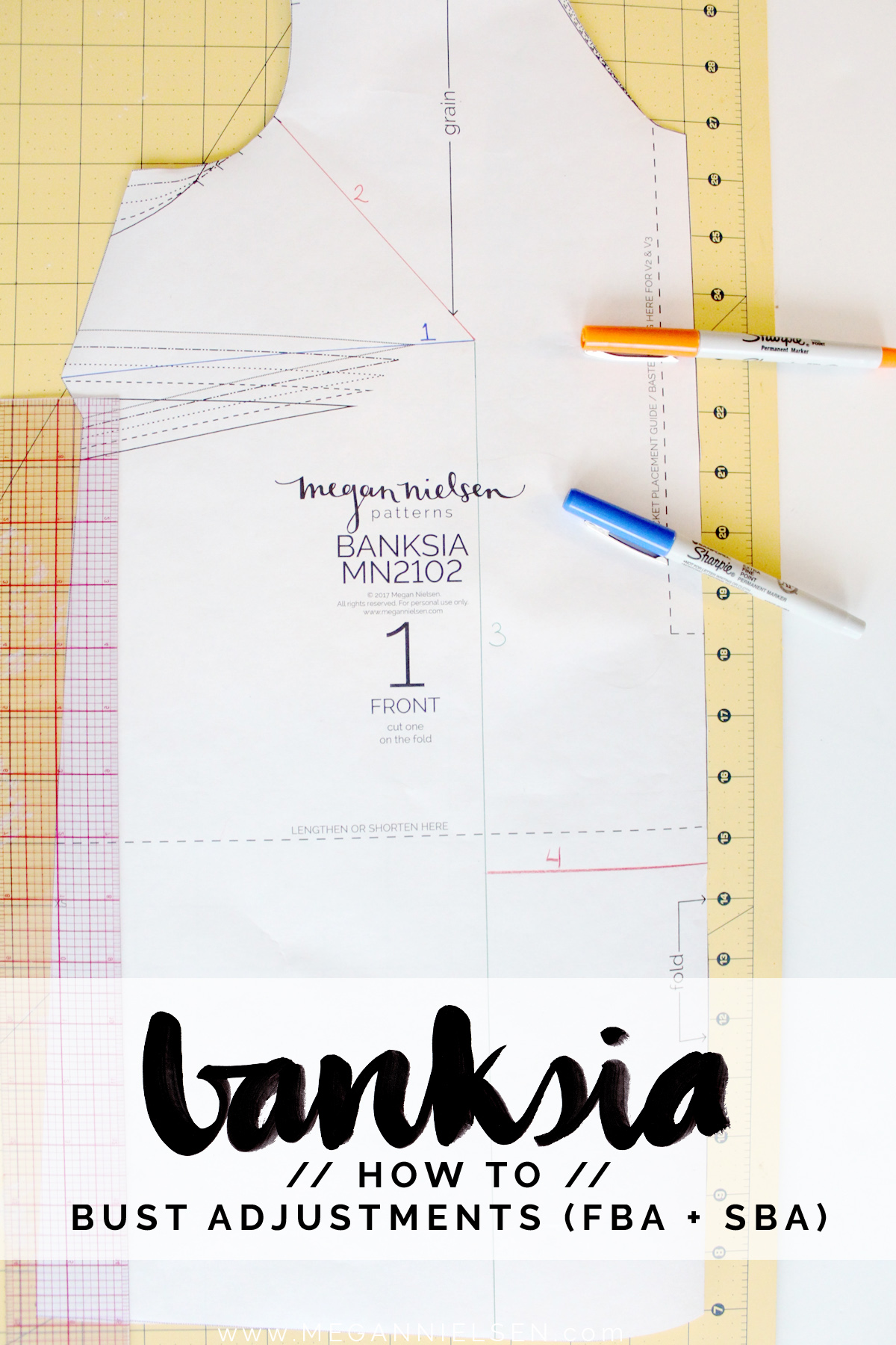 how to make bust adjustments on the Banksia Blouse // tutorial on Megan Nielsen Design Diary