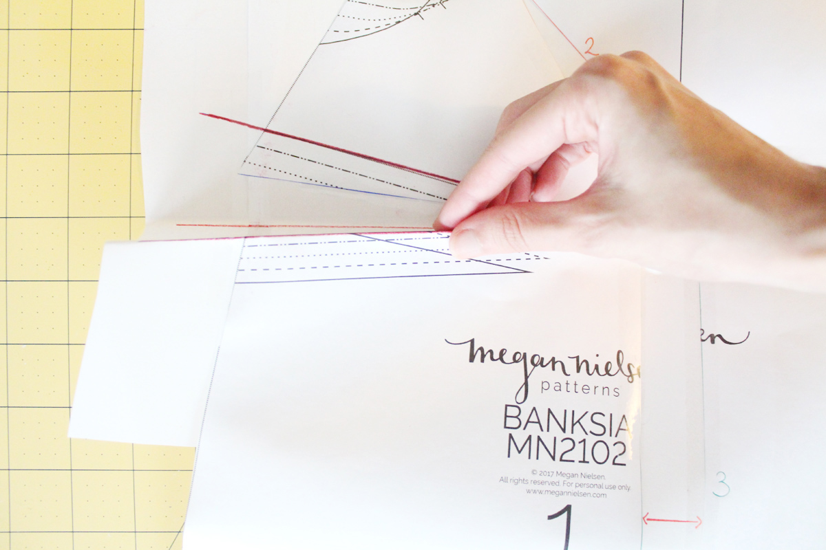 how to do a full bust adjustments on the Banksia Blouse // tutorial on Megan Nielsen Design Diary
