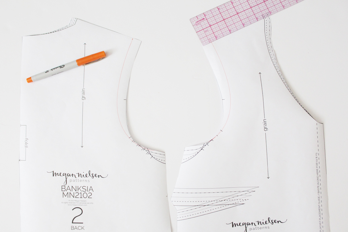 how to make a sleeveless Banksia Blouse // tutorial on Megan Nielsen Design Diary