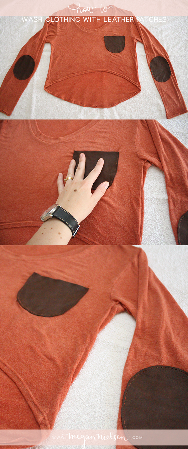 How to wash clothing with leather patches // @megan_nielsen