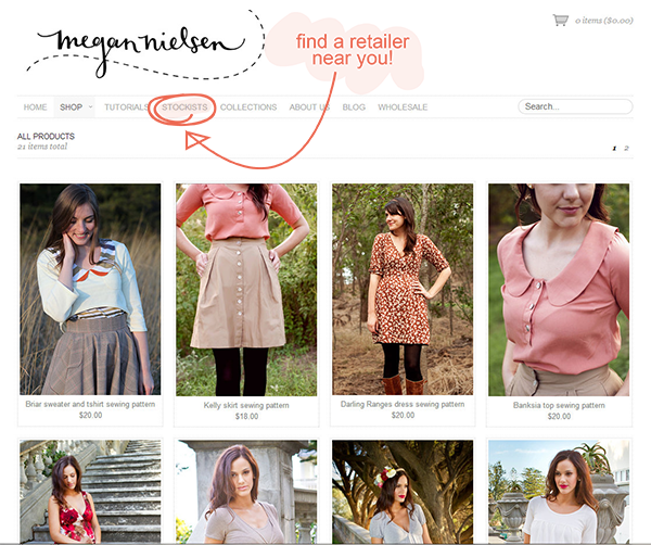 How to find a Megan Nielsen patterns retailer near you