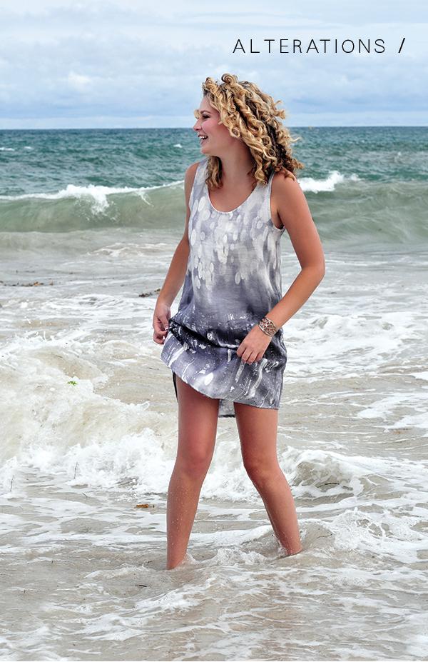 Megan Nielsen Eucalypt woven tank & dress // Alterations