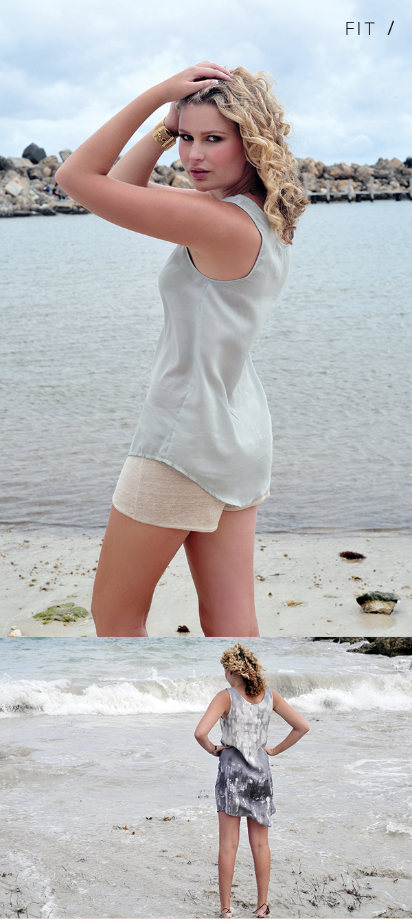 Megan Nielsen Eucalypt woven tank and dress // fit