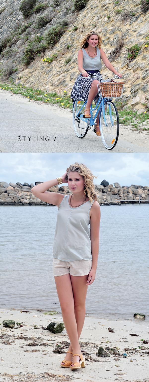 Megan Nielsen Eucalypt woven tank & dress // Styling
