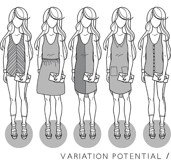Megan Nielsen Eucalypt woven tank & dress // Variation potential