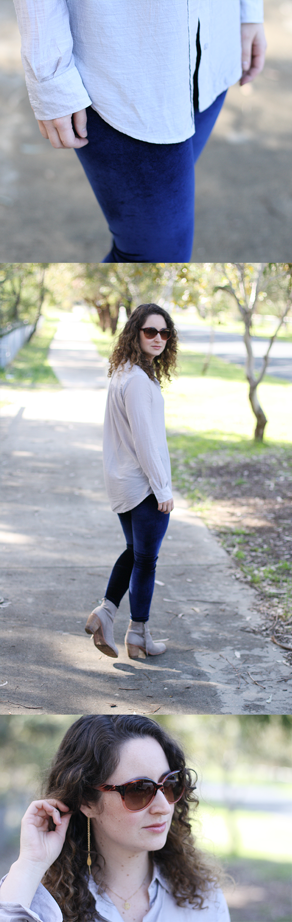 velour leggings // Megan Nielsen Design Diary