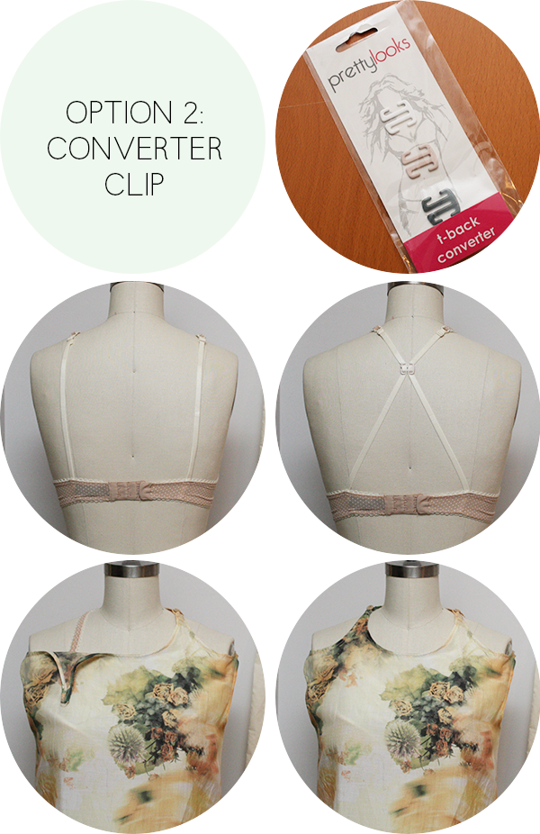 REGULAR BRA + CONVERTER CLIP TO WEAR WITH CRESCENT BLOUSE
