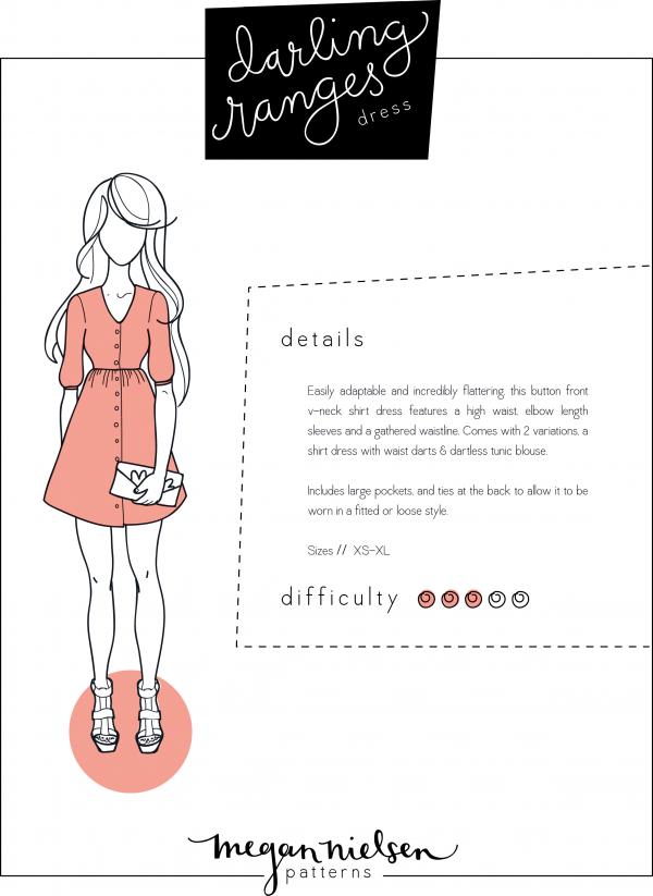 Megan Nielsen Darling Ranges dress PDF pattern