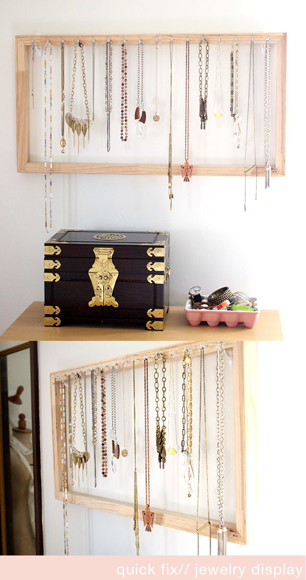 quick fix// jewelry display