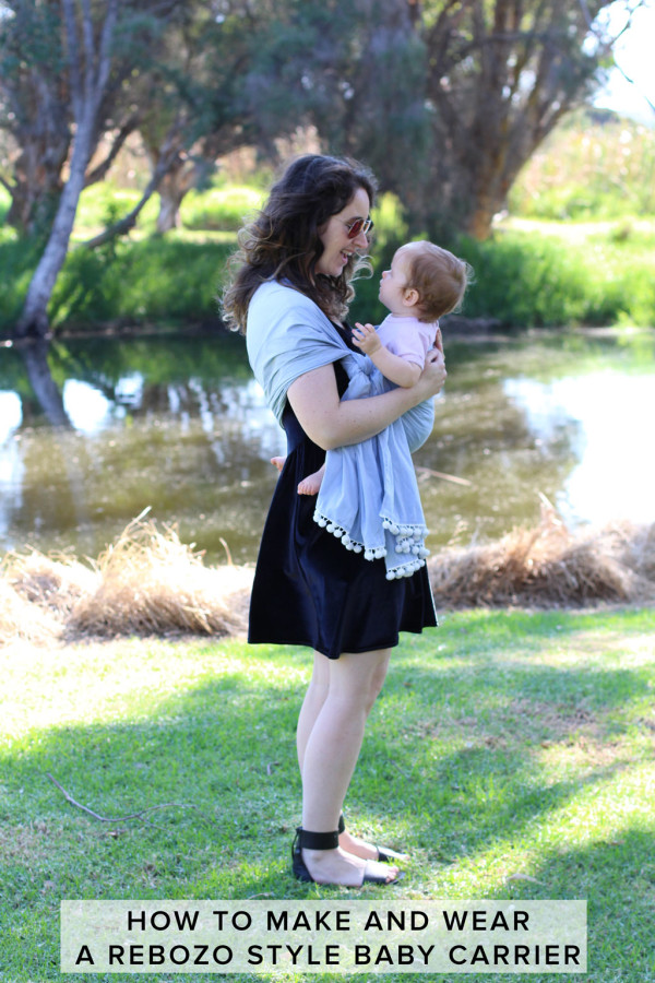 How to make and wear a Rebozo style baby carrier // Megan Nielsen Design Diary