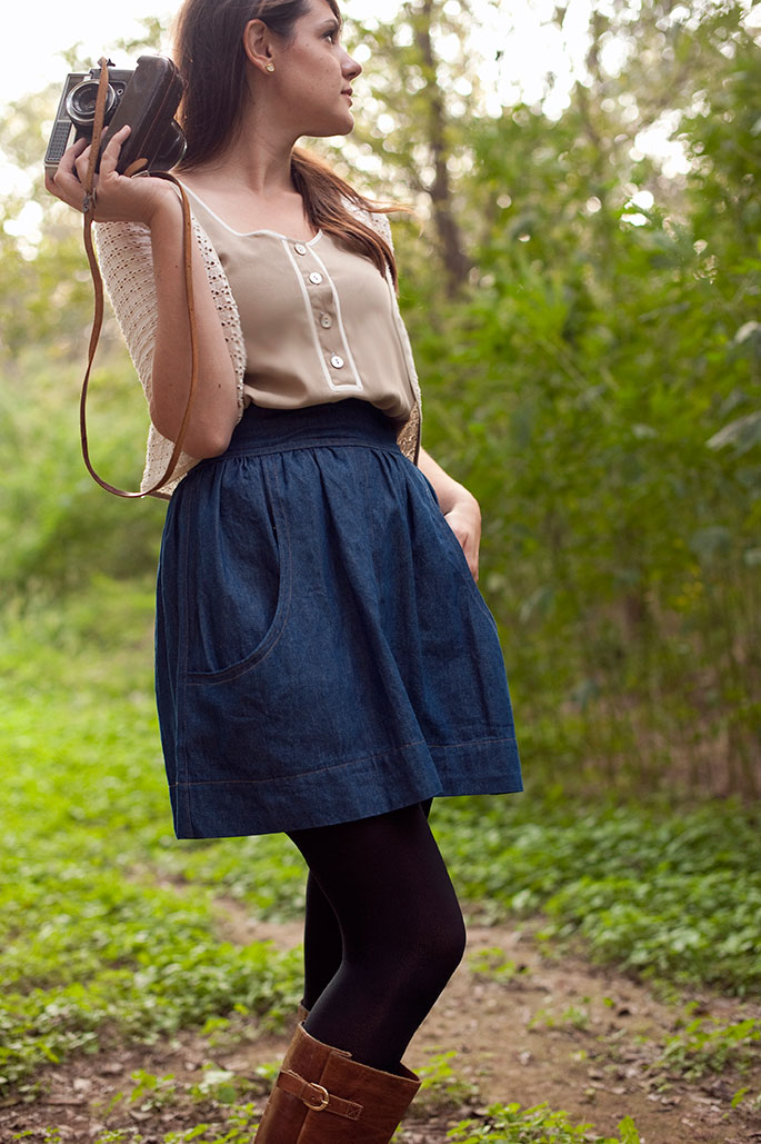 Megan Nielsen Brumby skirt sewing pattern