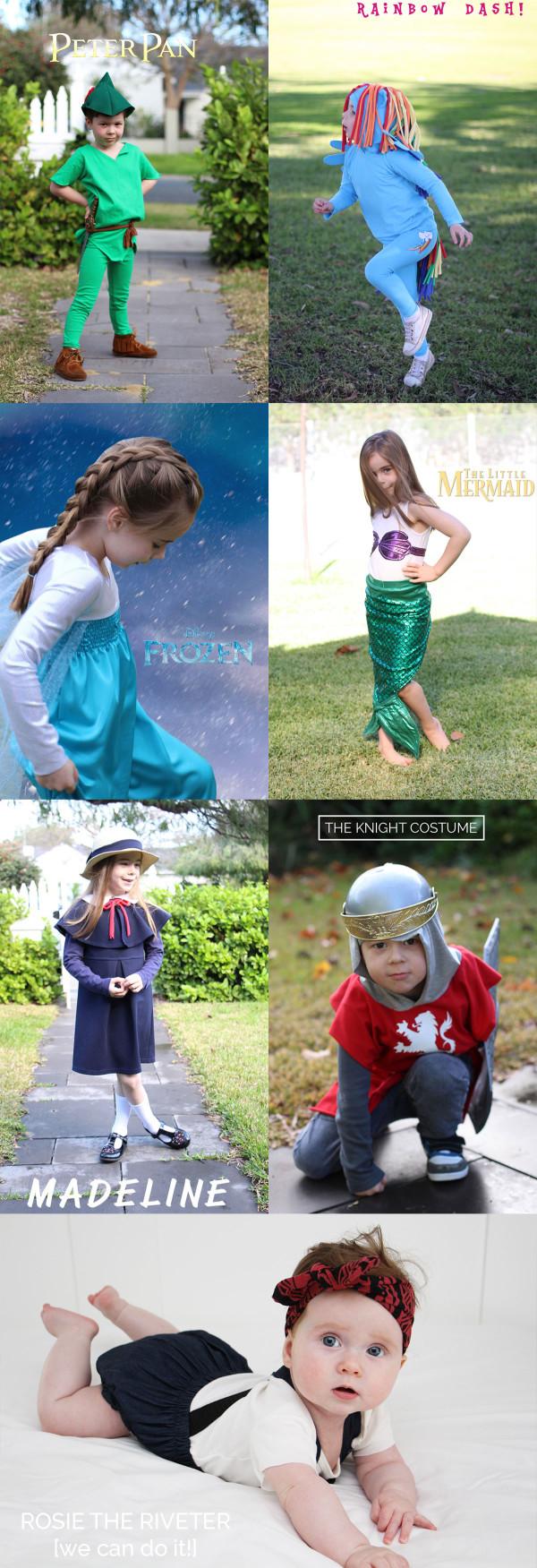 DIY Halloween costumes for kids by Megan Nielsen Patterns
