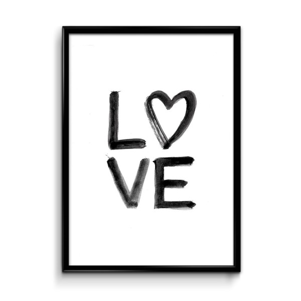 YBcreative typography art prints // LOVE print