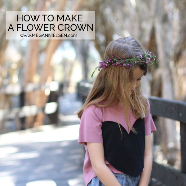 How to make a flower crown // video tutorial // Megan Nielsen patterns