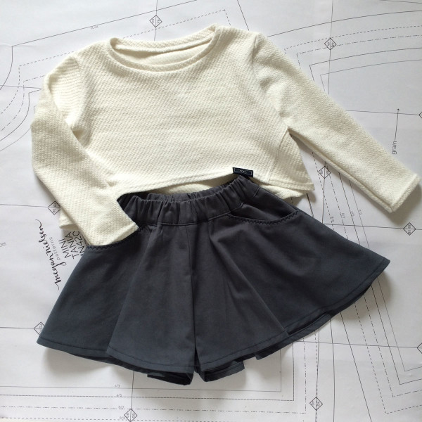 Megan Nielsen Patterns Mini Tania sewing pattern // Stylish and adaptable sewing patterns for kids