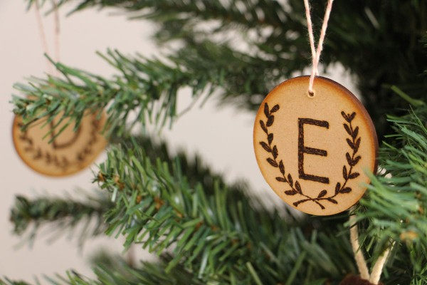 DIY wood burned Christmas tree ornaments by Megan Nielsen // Handmade Christmas