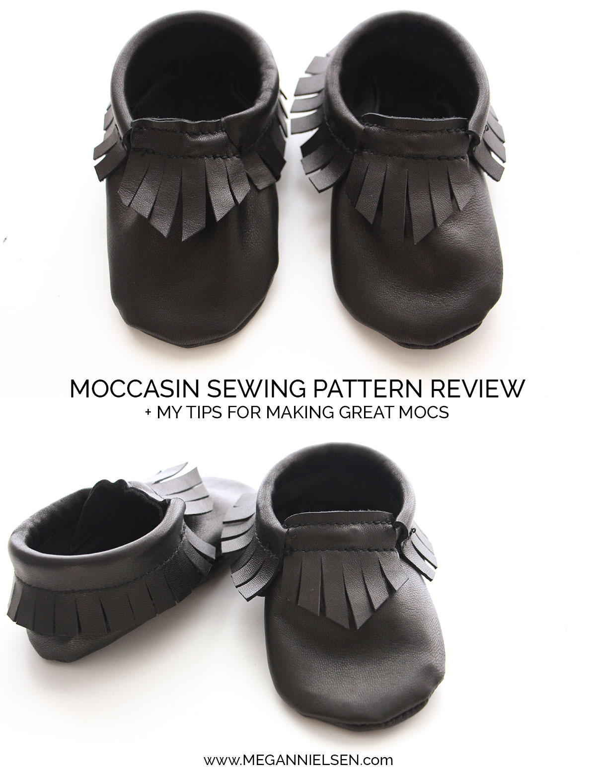 Baby moccasin pattern review + my tips — megan nielsen design diary