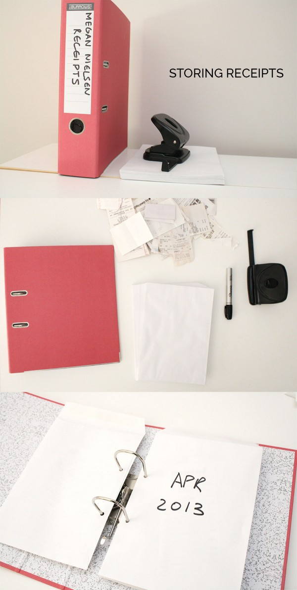 Quick tip // an easy way to store receipts