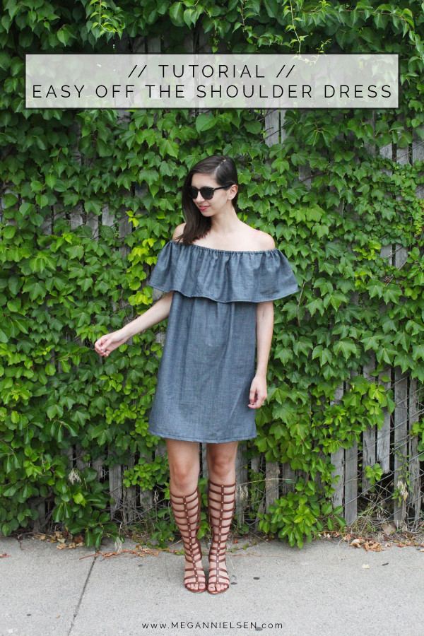 How to make an easy off the shoulder dress or top // FREE tutorial on Megan Nielsen Design Diary