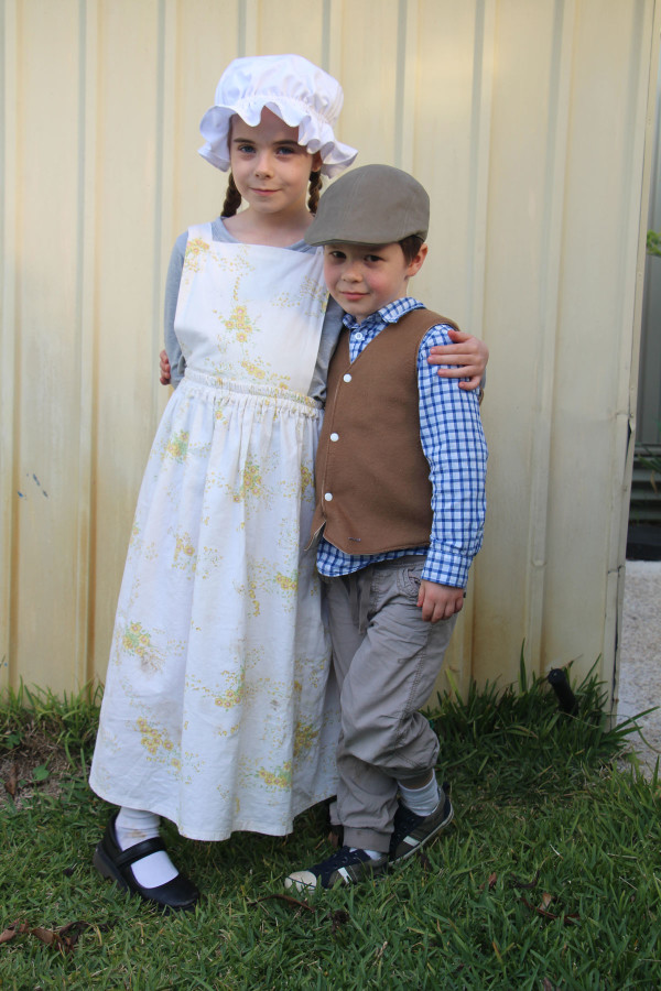 Bunny and Buddy's Colonial(ish) Australian costumes