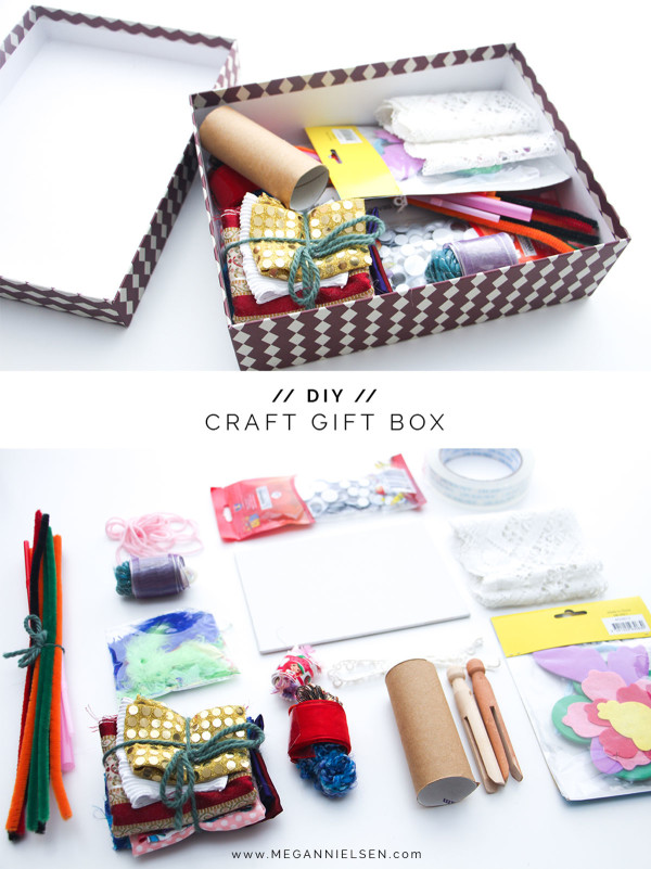 Amazing DIY craft gift box // perfect for a child who likes to make things!