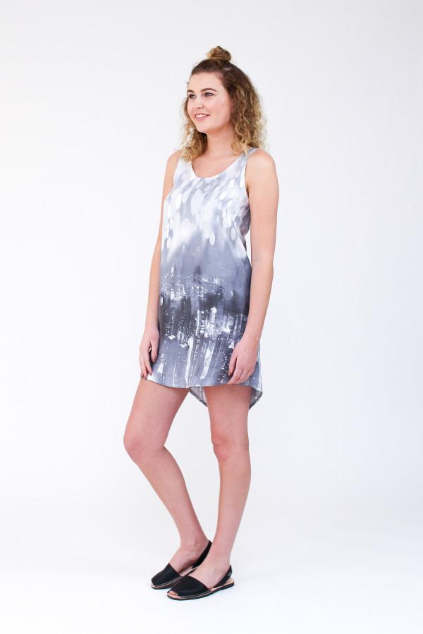 Megan Nielsen Eucalypt woven tank and dress sewing pattern