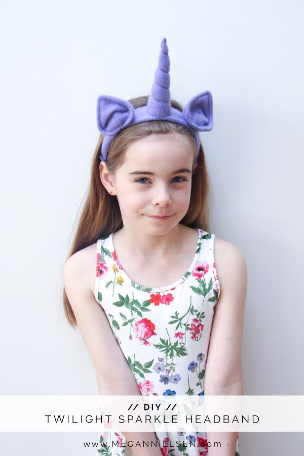 DIY Twilight sparkle headband // Megan Nielsen Design DIary