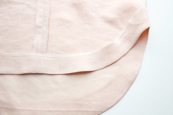 3 ways to sew a curved hem facing // Megan Nielsen Design Diary // Dove blouse sewalong