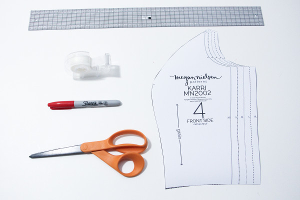 How to do a full bust adjustment FBA on princess seams // shown on Megan Nielsen's Karri dress sewing pattern
