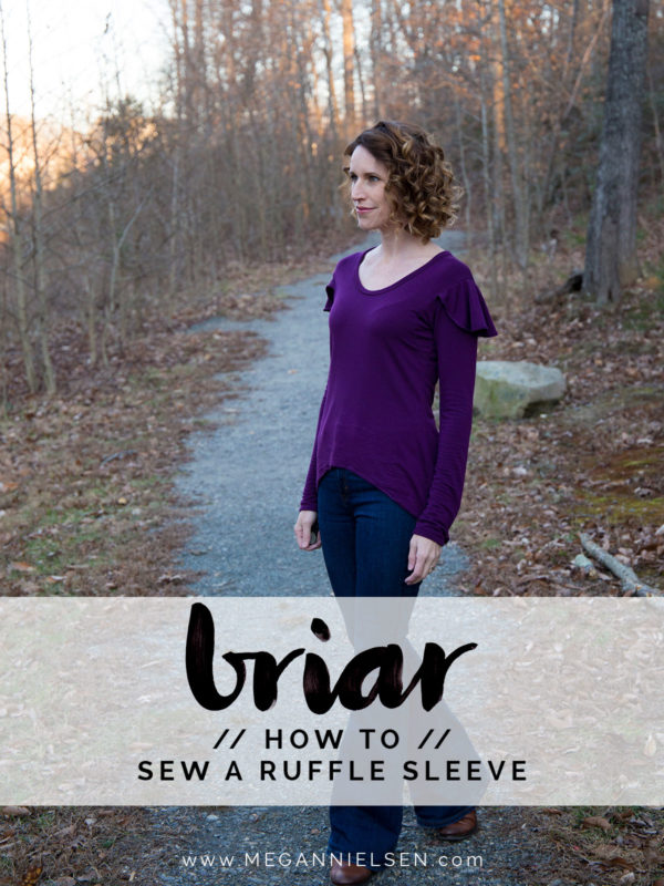 How to sew a Briar tee with ruffle sleeves // tutorial on Megan Nielsen Design Diary