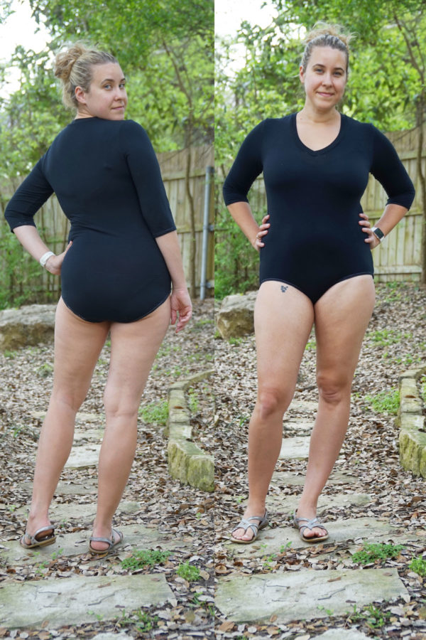 Megan Nielsen Rowan bodysuit and tee sewing pattern tester roundup!