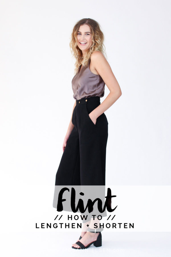 How to lengthen or shorten a pants pattern (it's easy!!) // Flint pants sewalong on Megan Nielsen Design Diary