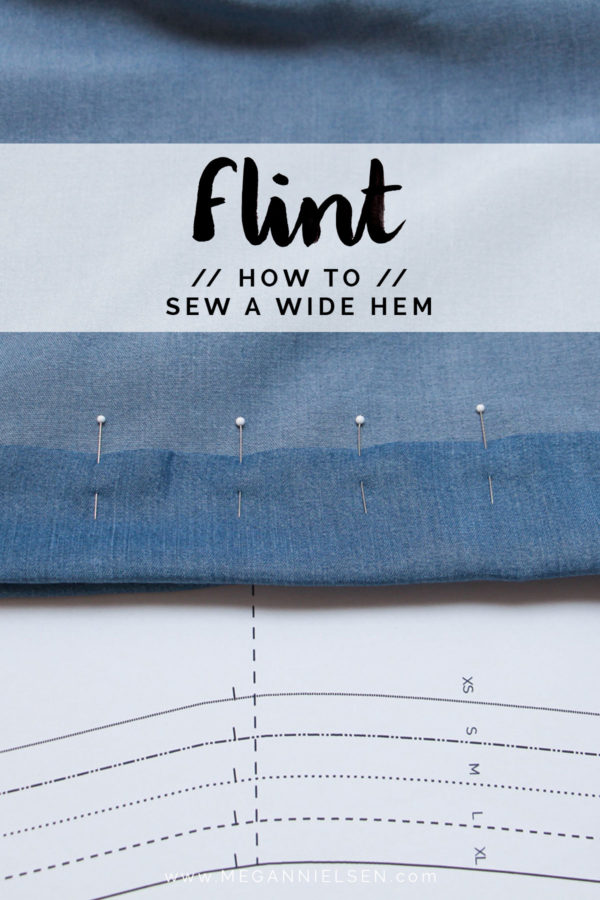 How to sew a wide hem // Flint pants and shorts sewalong on Megan Nielsen Design Diary